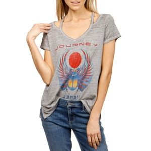 lucky brand / vintage burnout journey band tee M